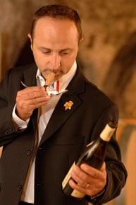 John Euvrard et la sélection des vins pour Cavissima