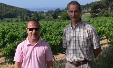 Monsieur Delille dans les vignes de Terrebrune à Bandol