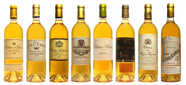 Les plus beau Châteaux en Sauternes en liquoreux blancs