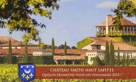 Quelles sont les promesses pour les vendanges 2015 du Château Smith Haut Lafitte ?