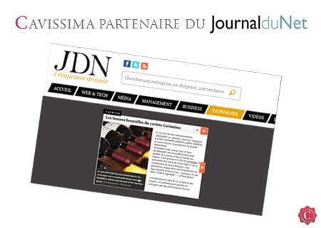 Cavissima partenaire du Journal du Net rubrique investissement