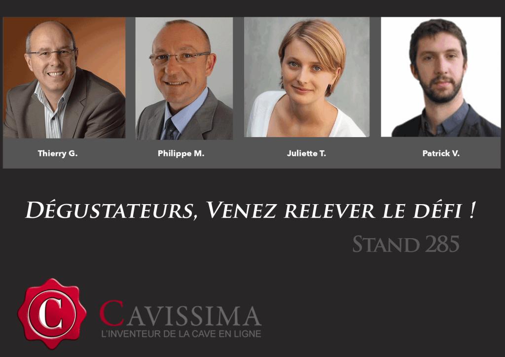 L'équipe Cavissima au Grand Tasting 2015 à Paris