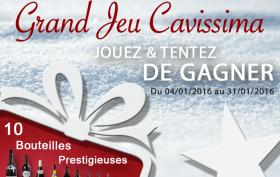Jouez et tentez de gagner 10 bouteilles prestigieuses au Grand Jeu Cavissima