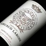 bouteille gruaud larose, focus sur l'etiquette