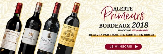 Alerte Email Primeurs Bordeaux 2018