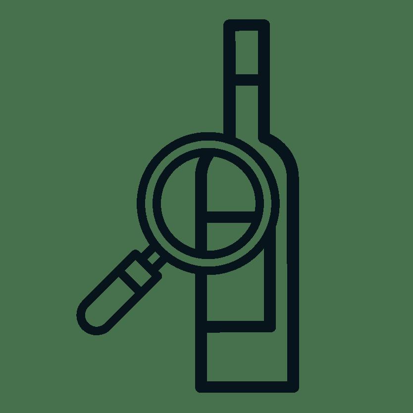 Pictogramme étude du vin