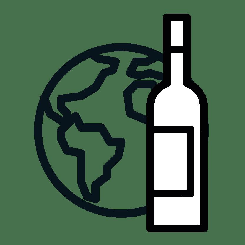 Pictogramme vin du monde