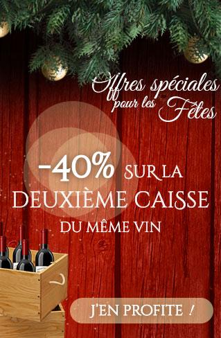 -40% sur la 2ème caisse de vin