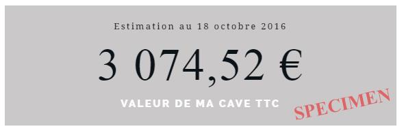 Estimation de la cave en ligne